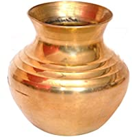 GoRevizon BrassLine Pooja Lota, Kalash Lota para Festival Puja (2,5 pulgadas)