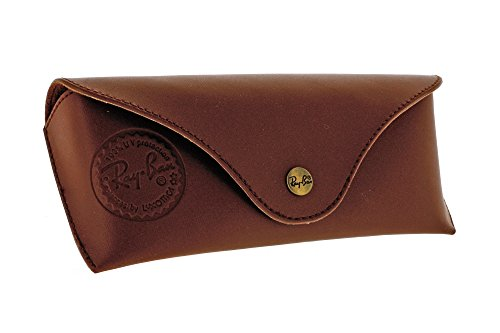 ray-ban-etui-a-lunettes-a-surface-lisse-taille-l-marron