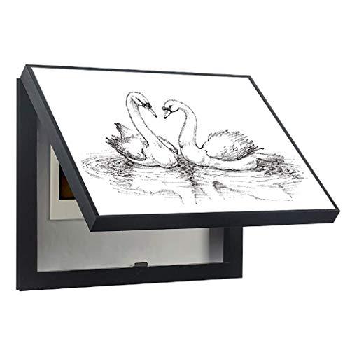 Caja de medidor eléctrico Pintura Decorativa Perforación Libre Moderno Simple Cubierta de...