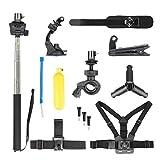 Koojawind 13 Pcs Sports Cam Accessoires Kit Bundle pour DJI Osmo Action CaméRa Accessoires, Longe À La Main Floatingbuoy De l'eau Double Bracelet D'Assurance pour La Photographie