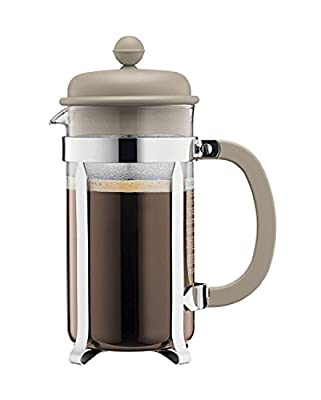 Bodum Caffettiera 8 Cup, 1L Cafetiere Coffee Maker, Beige by Bodum