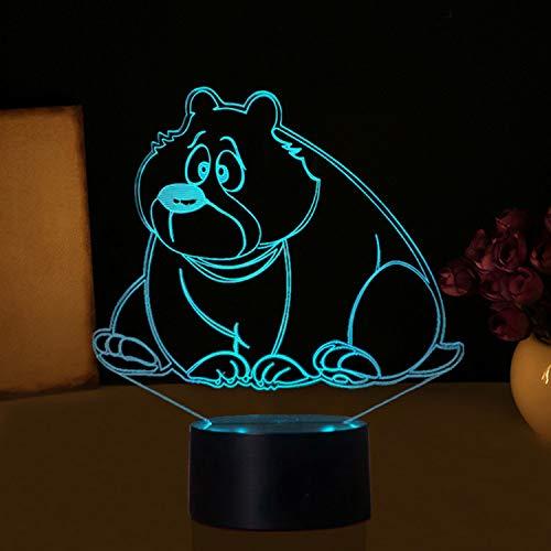 Acryl Hause Nacht Touch Nachtlicht Schreibtisch Tisch Haus Dekor 7 Farbe Led Ändern Junge Kid Spielzeug Usb Tragbare Visuelle 3D Schöne Bär