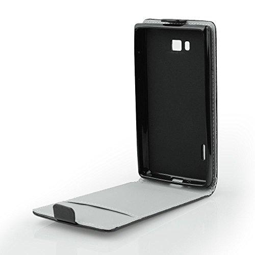 """Preisvergleich Produktbild Handy Flip Case schwarz für """"Samsung Galaxy A3 A310F 2016"""" Schutz Hülle Tasche Schale Etui Cover mit integrierter Silikonhülle"""