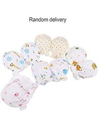Lovelysunshiny Invierno Completo algodón recién Nacido bebé niños niñas antiagarrotamiento Guantes 0-3 Meses