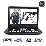 KOQIO Lecteur de DVD Portable 17 Pouces, écran pivotant à 270 degrés, Prise en...