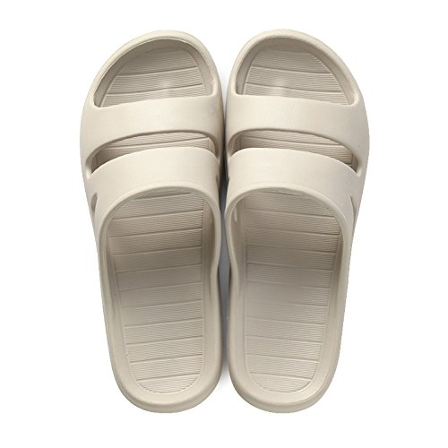 DogHaccd pantofole,Giovane home interni home fondo morbido antiscivolo bagno bagno sandali estivi femmina casa cool pantofole maschio Grigio
