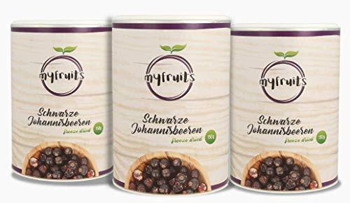 myfruits gefriergetrocknete Johannisbeeren 3er Pack (je 150g) - ganze Früchte, ohne Zusätze, Abgefüllt in Deutschland
