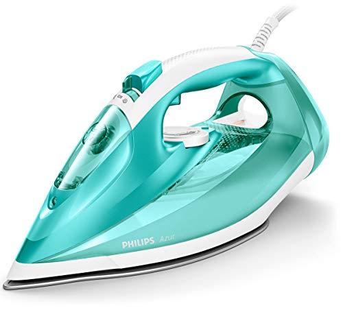 Philips Azur - Plancha (Plancha a vapor, Suela de SteamGlide, 2 m, 200 g/min, Turquesa, 45 g/min)