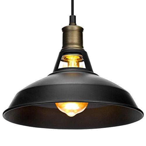 Vintage lámpara de techo colgante, Oak Leaf negro bronce lámpara Industrial Retro Lámpara colgante lámpara de araña de metal para moderno loft bar cafe sala de estar, E27