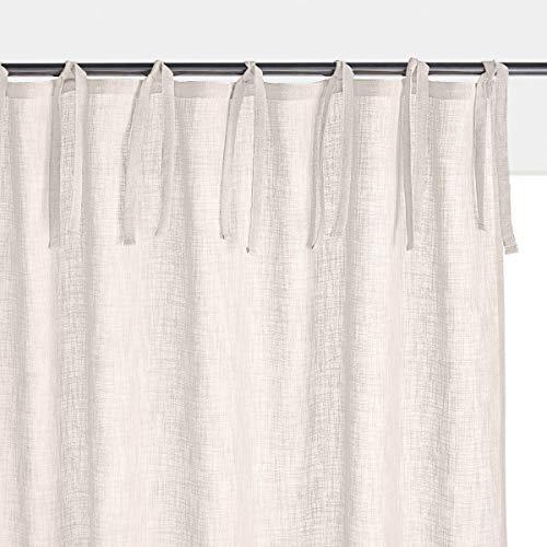 La redoute interieurs tenda effetto lino con laccetti, nyong 180 x 140 cm