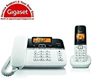 Gigaset C330 Digital Corded-Cordless Phone Combo,180 Hr Stanby,Voicemail,Conference Call,150 Contact Storage,50M Indoor-300M Outdoor Range,Germany Technology for Home&Office C330 Black/White