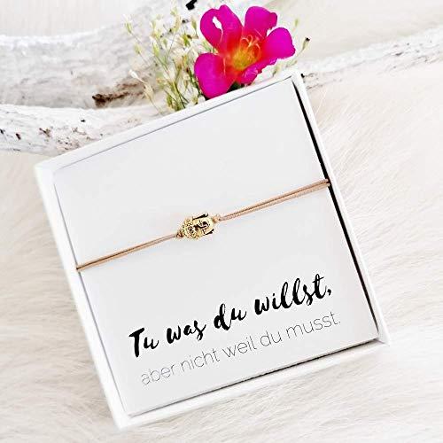 KARYSMA | elastisches Armband mit einem kleinem Buddha, perfektes Geschenk für Mädchen und Frauen