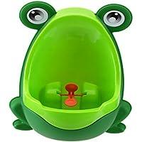 Gespout urinarios masculinos para verde infantil rana plástico, fácil de utilizar de altura ajustable (diferentes colores, color verde 30x21x17cm)