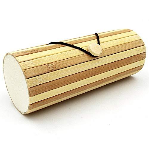 Brillenetui Brillenetui Einfacher handgemachter natürlicher Bambus-Sonnenbrille-Kasten mit Knopf Klimazylinder-Sonnenbrille-Kasten für hölzerne Bambus Sonnenbrille-Glas-Aufbewahrungsbehälter für Bri