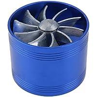 Ventilador doble de la turbina Ventilador del ahorrador Reabastecimiento de turbina de turbo Cargador de aire de admisión de aire Ventilador de ahorro de combustible - Matefielduk