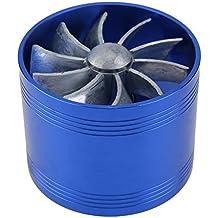 Ventilador doble de la turbina Ventilador del ahorrador Reabastecimiento de turbina de turbo Cargador de aire