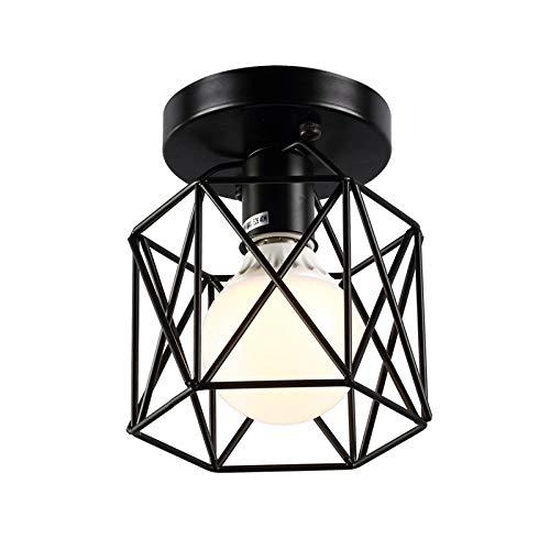 Retro Industrial Lámpara de techo de interior, Techo de Metal Lámpara de Techo Colgante Mini de Estilo Vintage (E27, no hay bombillas)