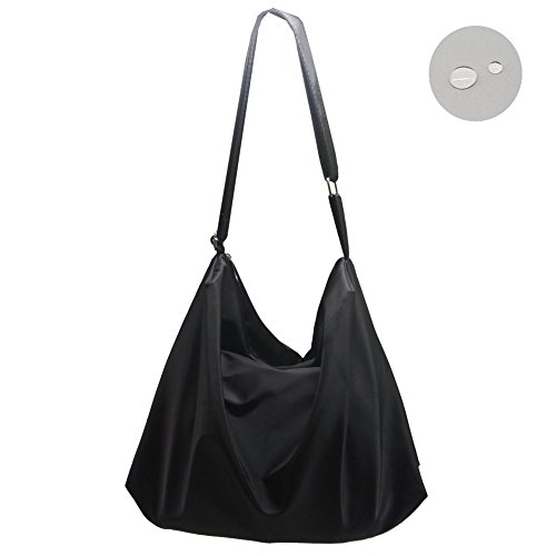 Artone Waterpellent Oxford Tote Bag Hand Casual Tote Bags Tracolle Crossbody Bag Nero Nero