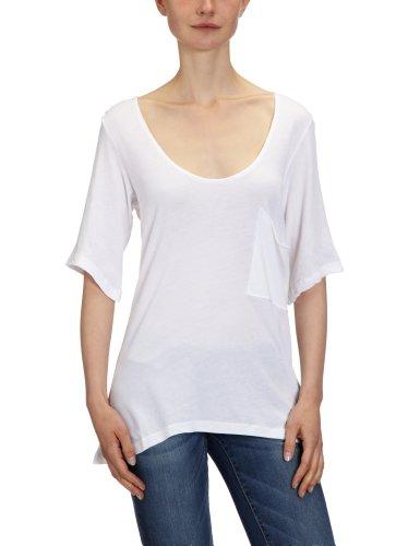Bobi Damen T-Shirt 525-08060, Rundhals Weiß (White)