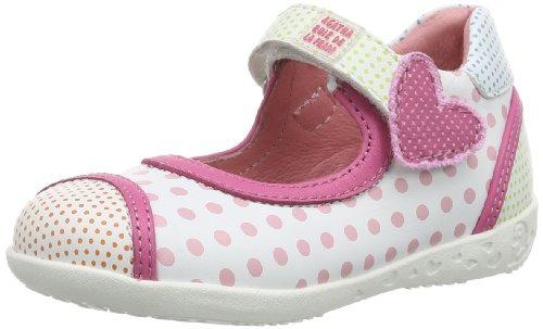 Agatha Ruiz de la Prada 142908 Baby Mädchen Lauflernschuhe, Weiß (Blanco y estampado), EU 21