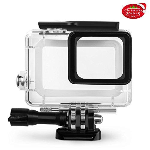 Galleria fotografica Rhodesy RH043 Custodia Protettiva Impermeabile Include Supporti e Viti per GoPro Hero 6 Hero 5 Action Camera