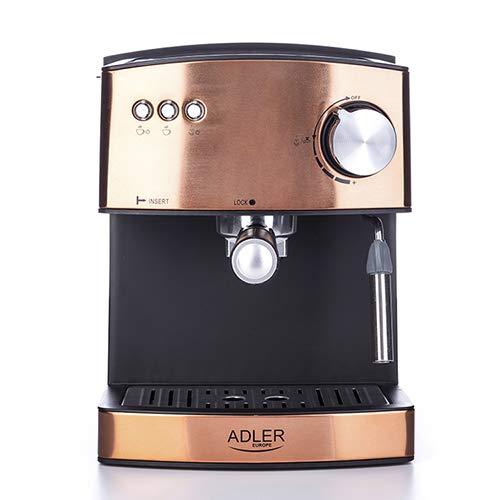 Adler Espressokocher, Aluminium, goldfarben