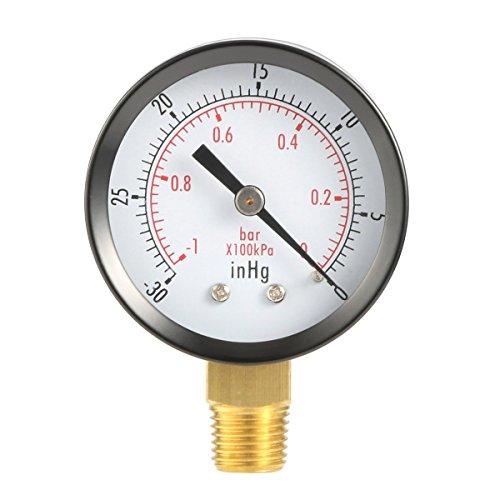Gugutogo Dry-Dienstprogramm Vakuum-Druckanzeiger Blk Stahl 1/4