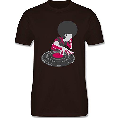 DJ - Discjockey - Discjockey - Herren Premium T-Shirt Braun