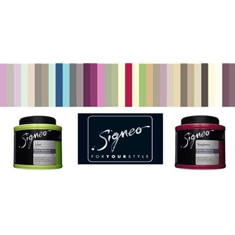0,8 L, colorati da parete colore Signeo, uva passa ROUGE, scuro Rosa opaco, elegant-opaca superficie, interno colore