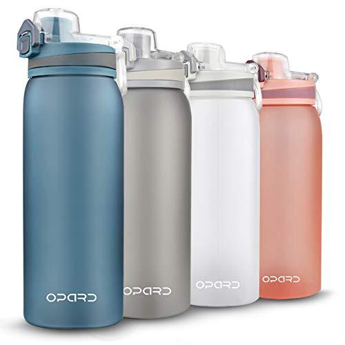 Opard Trinkflasche Sport 900ml-Wasserflasche aus Tritan, BPA-Frei, Auslaufsicher Sportflasche für Kinder, Sport, Fitness, Fahrrad, Fußball, Outdoor (Blau)