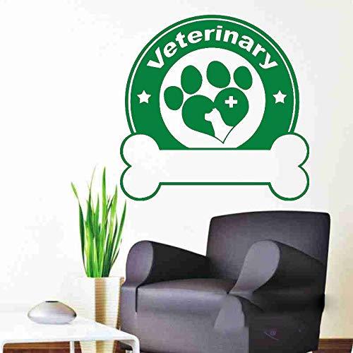 guijiumai Dctal Dog Grooming Salon Negozio di Animali Adesivo Decalcomania Poster Vinile Wall Art Decals Parede Decor Adesivo murale Negozio di Animali 6 58x58cm