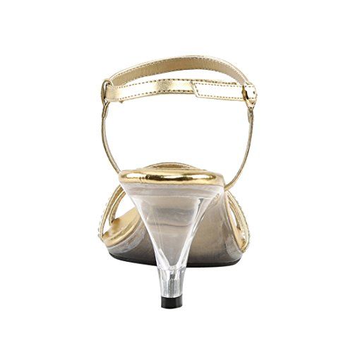 Fabulicious Clr BELLE Damen Sandalen Kn枚chelriemchen 316 Pu Gold Met rrqxd8EwC