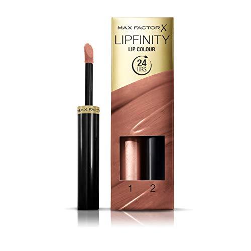 Max Factor Lipfinity Lip Colour Tinta Labbra Matte Lunga Durata e Gloss Idratante, Applicazione Bifase, 180 Spiritual