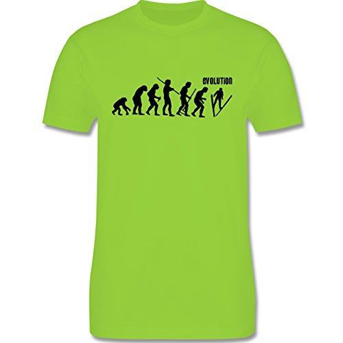 Evolution - Skisprung Evolution - Herren Premium T-Shirt Hellgrün