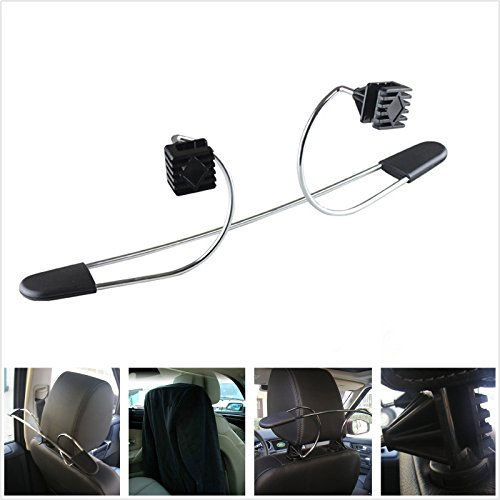 Sellify Auto SUV Pickup Seat Headrest Holder Jackets Coats Suits Stainless Steel Hanger