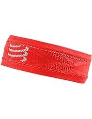 Compressport Thin Headband On/of Cinta, Rojo, Talla Única