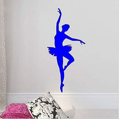 Zaosan BallerinaWandaufkleberSilhouette Mädchen Tanz Applikation Wohnzimmer90x44cm