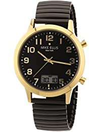 Mike Ellis New York Herren-Armbanduhr XS Analog - Digital Quarz Edelstahl beschichtet M2612AGM/3