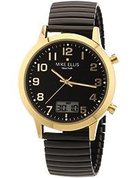 Mike Ellis New York Herren-Armbanduhr XS Analog - Digital Quarz Edelstahl beschichtet M2612AGM/3