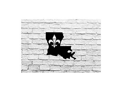 Celycasy Louisiana State Fleur De Lis Vinyl-Aufkleber für Autos Yeti Tumblers Tassen Laptops Fenster (Louisiana Tumbler)