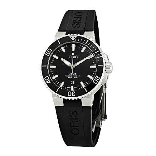Oris Aquis Date Automatic Black Dial Mens Rubber Watch 01 733 7730 4134-07 4 24 64EB