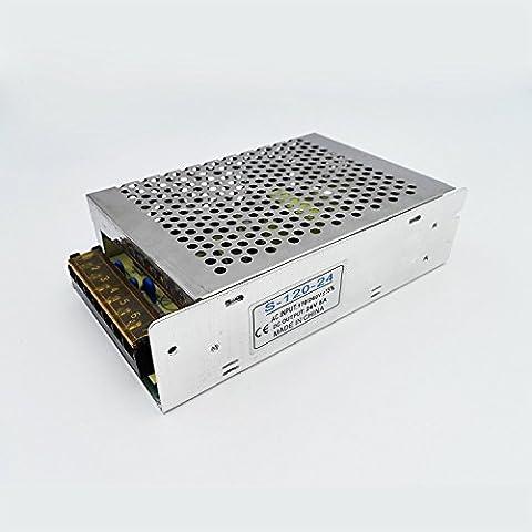Haute Puissance Transformateur Variateurs Adaptateurs Interrupteur alimentation Pilote AC 110V/220V DC 24V 5A 120W pour LED Bande