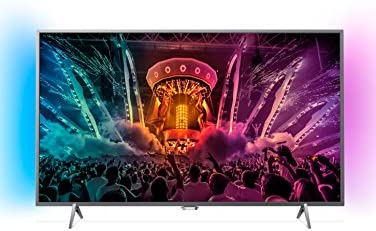 Philips  - Tv led 43''  43pus6401/12 uhd 4k, ambilight, wi-fi y smart tv android