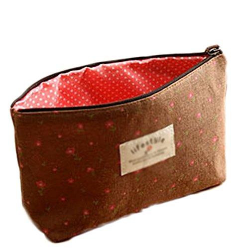 Westeng 1 Bedrucktes Tuch Mäppchen Kosmetikbeutel Für junges Mädchen Makeup Tasche Mit...