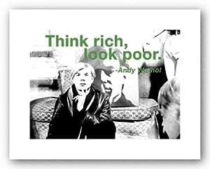 think rich look poor von andy warhol kunstdruck. Black Bedroom Furniture Sets. Home Design Ideas