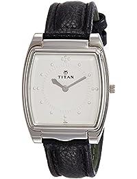 Titan Braille Analog Silver White Dial Men's Watch -NB1854SL01