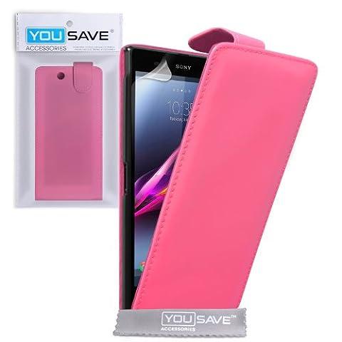 Yousave Accessories se-ha01-z631Klappetui aus PU/Leder für Sony Xperia Z Ultra ROSA Warm