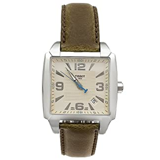 Tissot T-Quadrato T 0055101626700 – Reloj de caballero de cuarzo, correa de piel color marrón