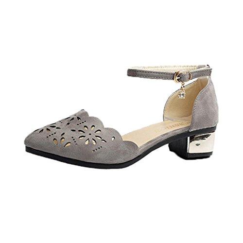Hochhackige Schuhe Damen Sandalen Sommer Btruely RömischSchuhe Böhmen Schuhe Mädchen Schuhe Frauen Sandalen Plattform Schuhe Gladiator Schuhe (39, Grau) (Sandalen Multi-schnalle)