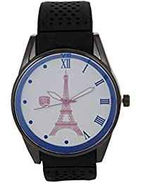 New Eiffel Tower Analog White Round Dial Men's Watch